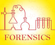 Forensics Research Indicates Equipment Apparatus And Test. Forensics Research Representing Study Analysis And Assessment Royalty Free Stock Images