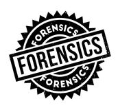 Forensics rubber stamp. Grunge design with dust scratches. Effects can be easily removed for a clean, crisp look. Color is easily changed Stock Photos