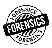 Forensics rubber stamp. Grunge design with dust scratches. Effects can be easily removed for a clean, crisp look. Color is easily changed Royalty Free Stock Images