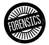 Forensics rubber stamp. Grunge design with dust scratches. Effects can be easily removed for a clean, crisp look. Color is easily changed Stock Images