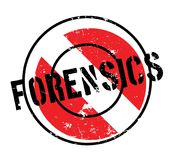 Forensics rubber stamp. Grunge design with dust scratches. Effects can be easily removed for a clean, crisp look. Color is easily changed Stock Photography