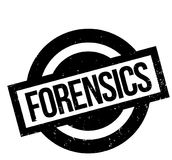 Forensics rubber stamp. Grunge design with dust scratches. Effects can be easily removed for a clean, crisp look. Color is easily changed Stock Photo