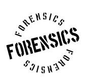 Forensics rubber stamp. Grunge design with dust scratches. Effects can be easily removed for a clean, crisp look. Color is easily changed Royalty Free Stock Photos