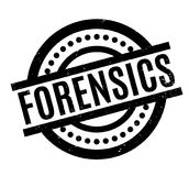 Forensics rubber stamp. Grunge design with dust scratches. Effects can be easily removed for a clean, crisp look. Color is easily changed Royalty Free Stock Photo
