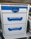 Forensische geneeskundeuitrusting Stock Foto