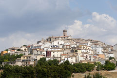 Forenza (Basilicata, Italy) at summer Royalty Free Stock Image
