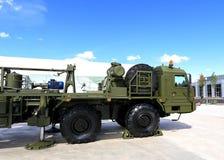 Forepart of havy military truck Stock Photo