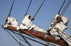 Foresail on an old sailing ship Stock Photography