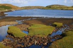 Foreshore rochoso do lago imagem de stock