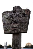Foreshore trail signage Stock Photography