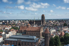 Foreshortening from above gdansk poland europe Royalty Free Stock Image