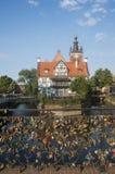 Foreshortening bend motlawa river gdansk poland europe Stock Photo