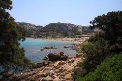 Foreshortening de Baia Sardinia Imagens de Stock Royalty Free