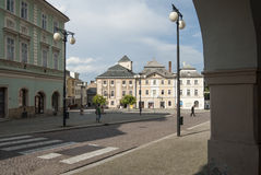 Foreshortening of downtown kutna hora republic czech europe Royalty Free Stock Photos