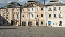 Foreshortening of downtown kutna hora republic czech europe Stock Image
