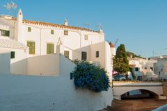 A foreshortening of El Mercadal city of Menorca island royalty free stock photos
