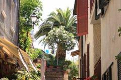 Foreshortening em Porto Santo Stefano fotos de stock