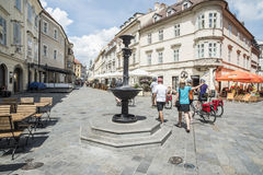 Foreshortening historic center bratislava slovakia europe Royalty Free Stock Images