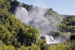 Foreshortening of marmore falls, terni Stock Image