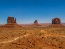 Foreshortening of Monument Valley royalty free stock image