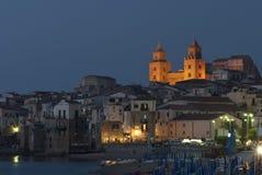 Foreshortening nocy cefalà ¹ Palermo Sicily Italy Europe Zdjęcia Stock