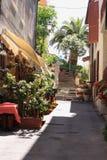Foreshortening in Porto Santo Stefano stock image
