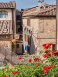 Foreshortening of San Gimignano, Tuscany, Italy Royalty Free Stock Photos