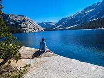 Foreshortening of Tenaya Lake royalty free stock image