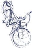 foreshottering剪影的自行车 库存图片
