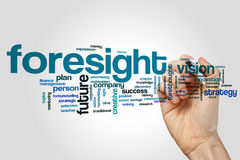 Foresight word cloud. Concept on grey background royalty free stock photography