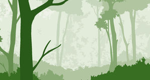 Forest 2. A woodland scene done in layers Royalty Free Stock Photography