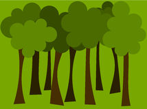 Forest. Symbolic trees in forest - vector backround Stock Photos