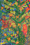 Forest. Abstract colorful painting with flowers Royalty Free Stock Image