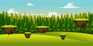 Forest And Hill Game Background Royalty Free Stock Image