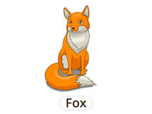 Forest animal fox cartoon for children Stock Image