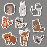 Forest animal stickers. Stock Photography