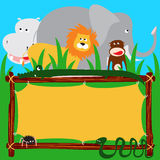 Forest animals. Custom folders with forest animals Royalty Free Stock Photos