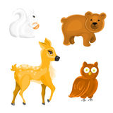 Forest Animals. Set of isolated Forest Animals on white background Royalty Free Stock Photo