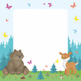Forest Animals Background Images stock