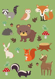 Forest animals collection 3 - vector illustration Royalty Free Stock Photos