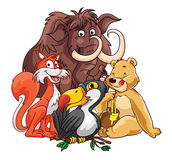 Forest Animals Group Imagen de archivo libre de regalías