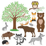 Forest Animals mignon Photos libres de droits
