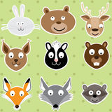 Forest Animals mignon - ensemble d'illustration Illustration de Vecteur
