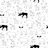 Forest animals pattern Royalty Free Stock Images