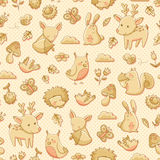 Forest animals pattern Stock Photo