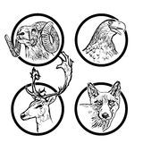 Forest animals rings 2 stock illustration