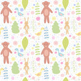 Forest animals seamless pattern. Royalty Free Stock Images