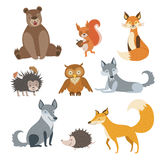 Forest Animals Set Stock Photography