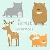 Forest animals set Stock Photos