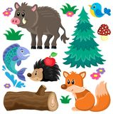 Forest animals theme set 2 Royalty Free Stock Photos